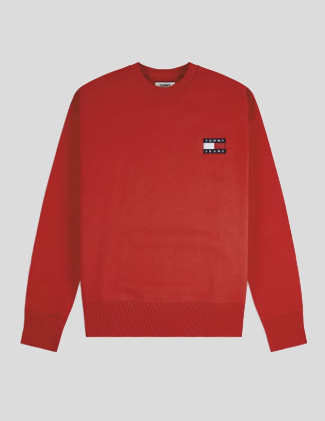 SUDADERA TOMMY JEANS TOMMY BADGE CREW DEEP CRIMSON