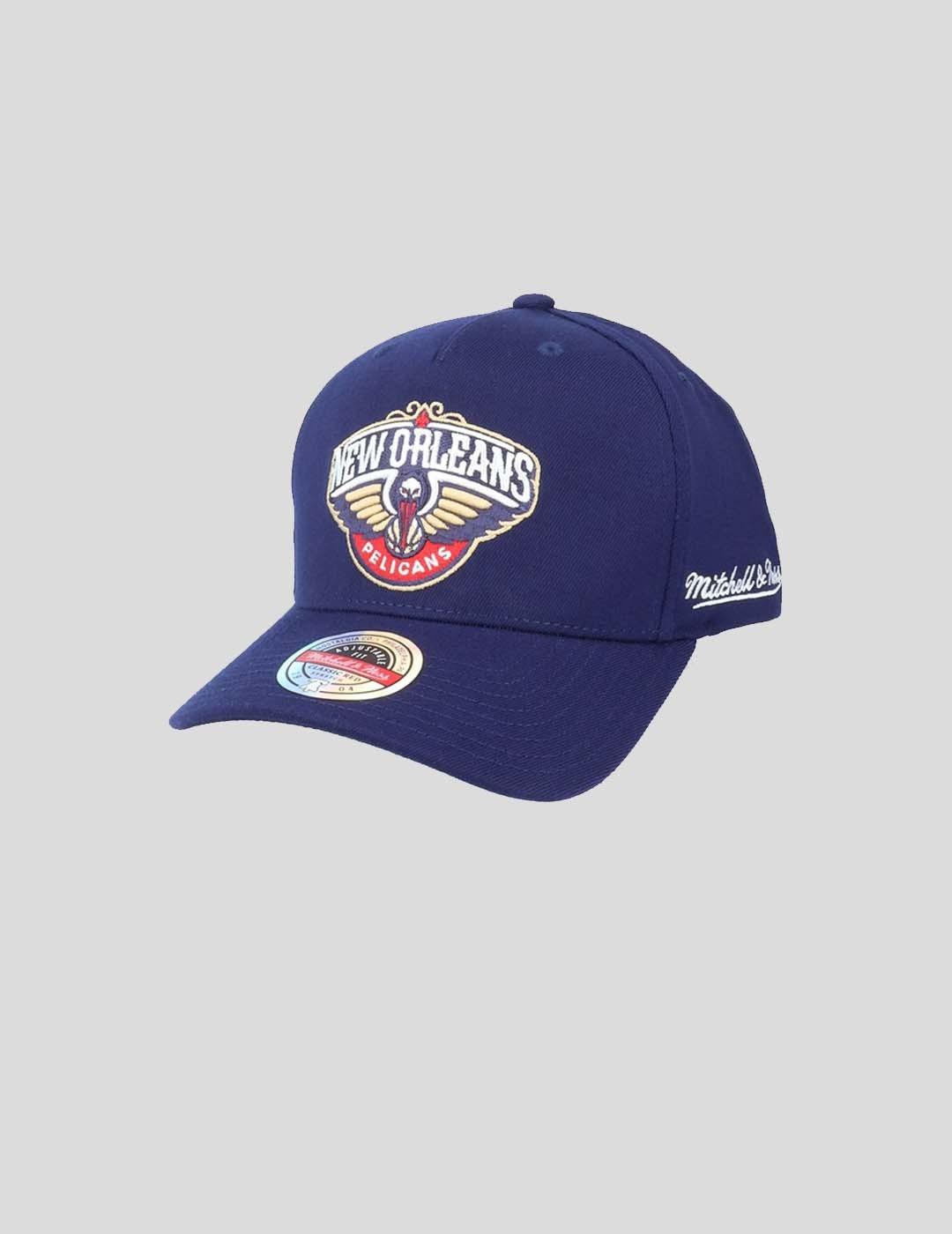 GORRA MITCHELL & NESS NBA DROPBACK SOLID SNAPBACK PELICANS NAVY
