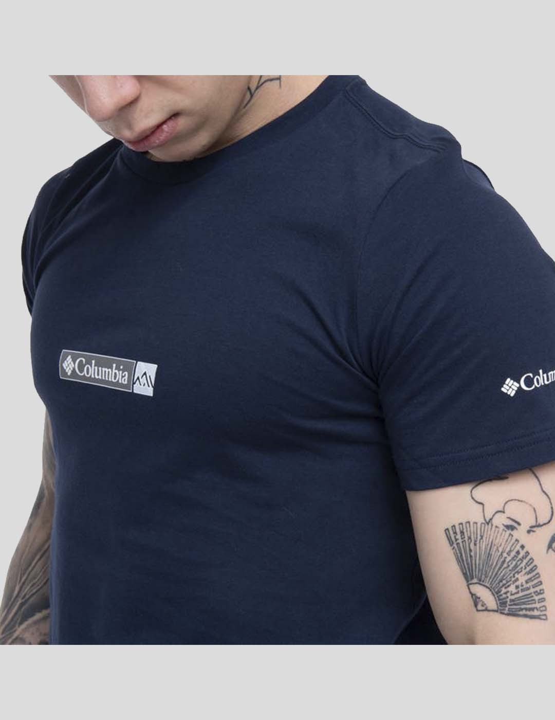 CAMISETA COLUMBIA RAPID RIDGE BACK GRAPHIC TEE COLLEGIATE NAVY