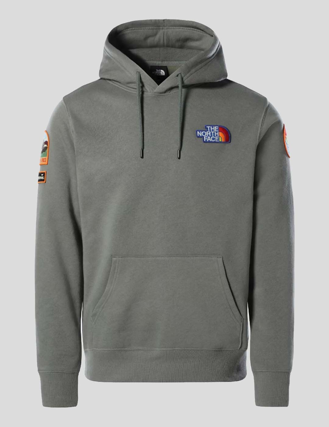 SUDADERA THE NORTH FACE PATCH HOODIE  AGAVE GREEN