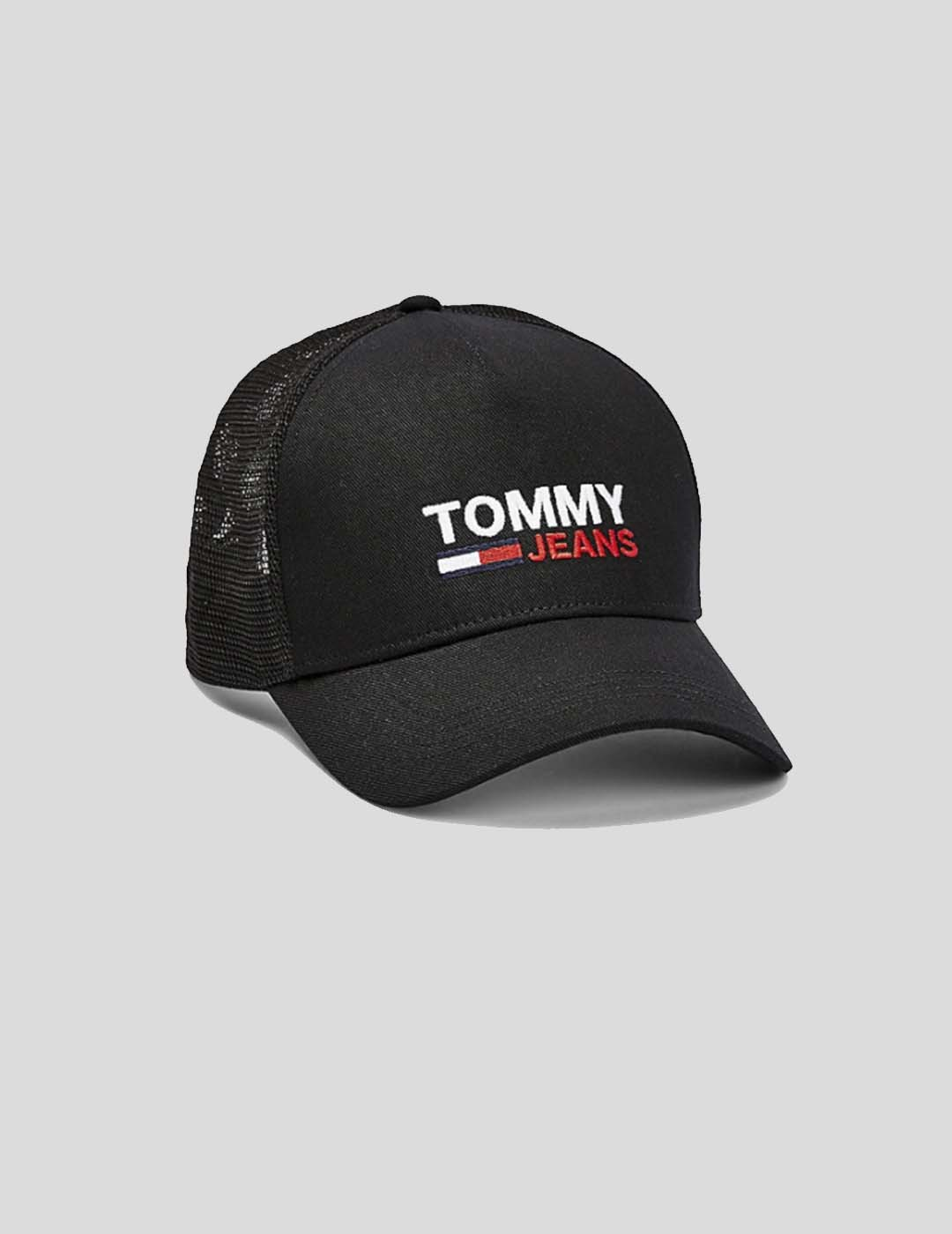 GORRA TOMMY JEANS TJM FLAG TRUCKER CAP BLACK