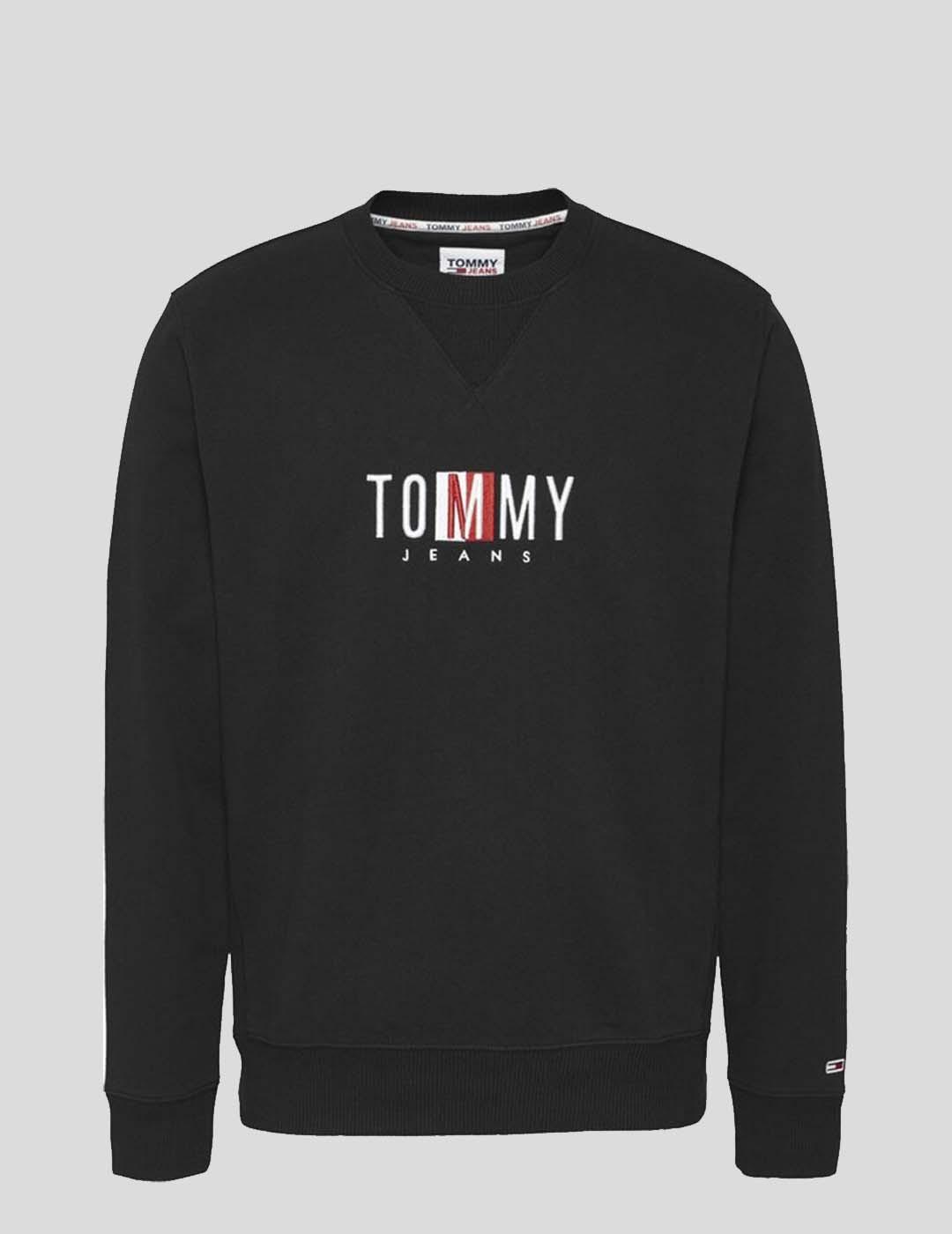 SUDADERA TOMMY JEANS TIMELESS TOMMY CREW BLACK
