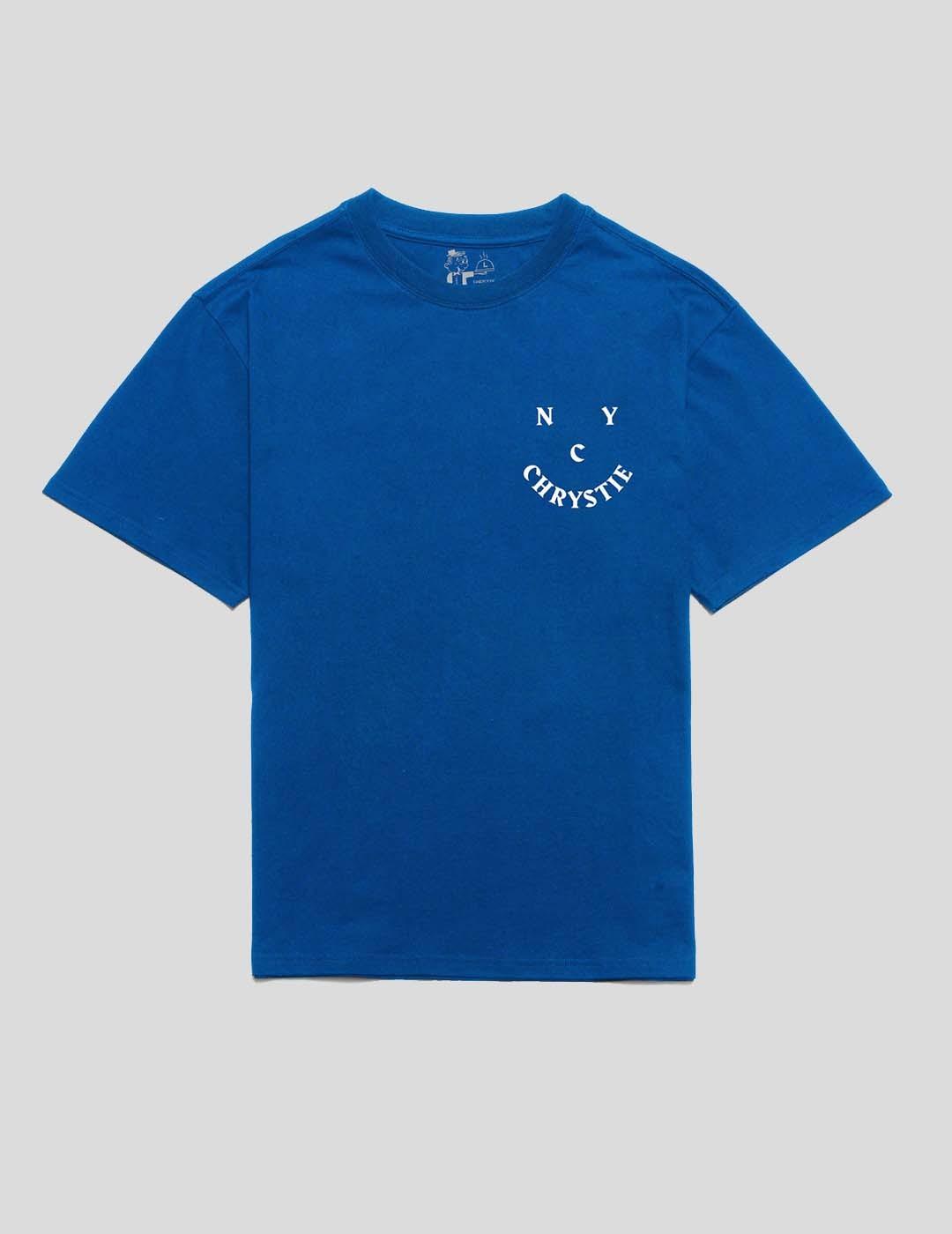 CAMISETA CHRYSTIE NYC SMILE LOGO TEE ROYAL BLUE