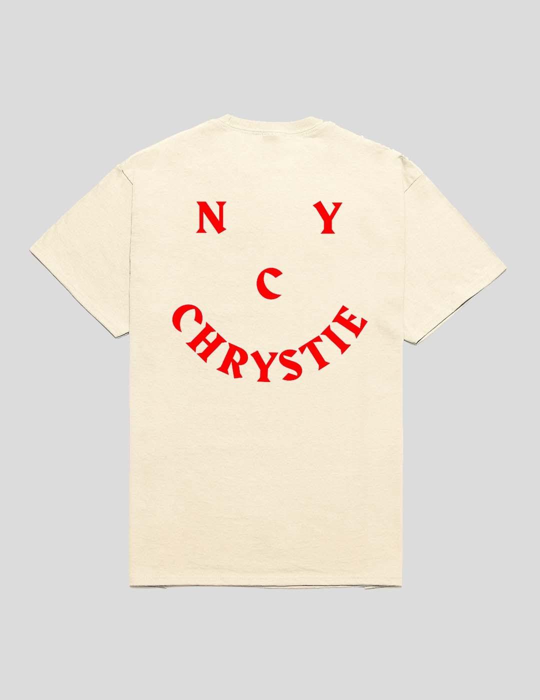 CAMISETA CHRYSTIE NYC SMILE LOGO TEE NATURAL