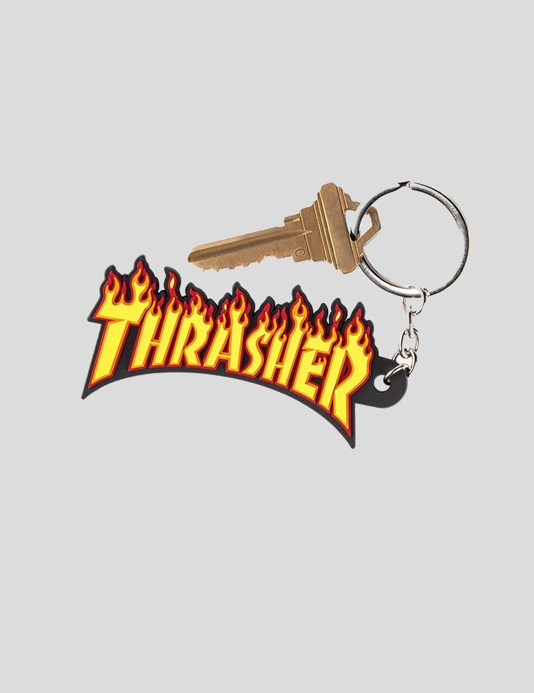 LLAVERO THRASHER FLAME KEYCHAIN BLACK