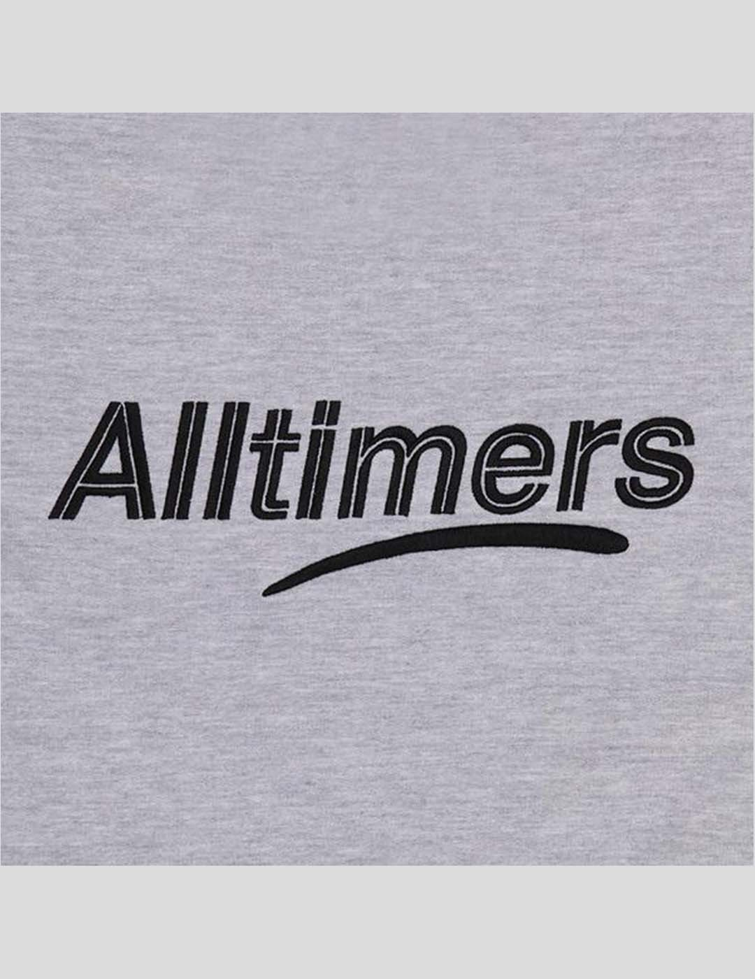 SUDADERA ALLTIMERS EMBROIDERED STATE CREW HEATHER GREY