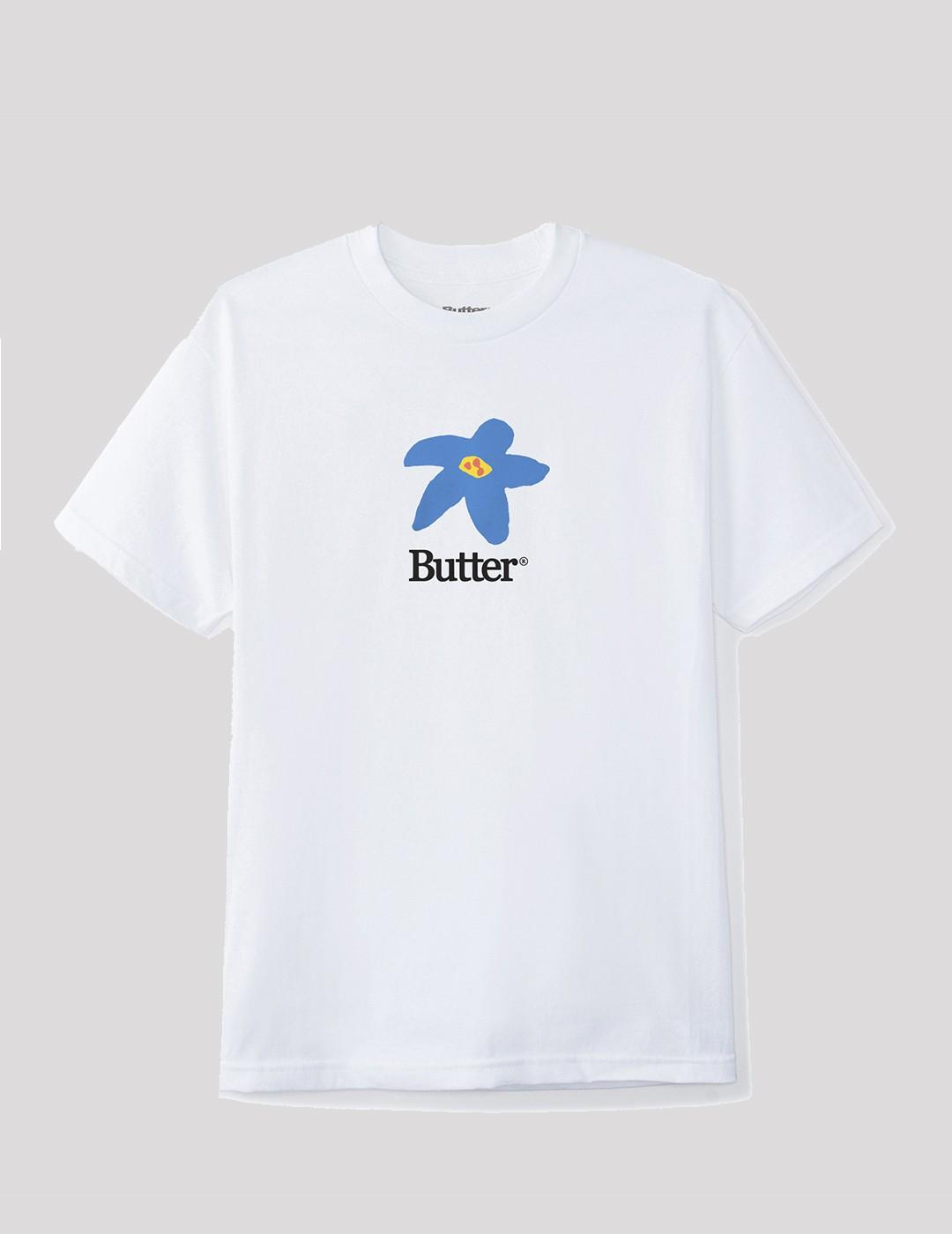 CAMISETA BUTTER GOODS FLOWERS TEE WHITE