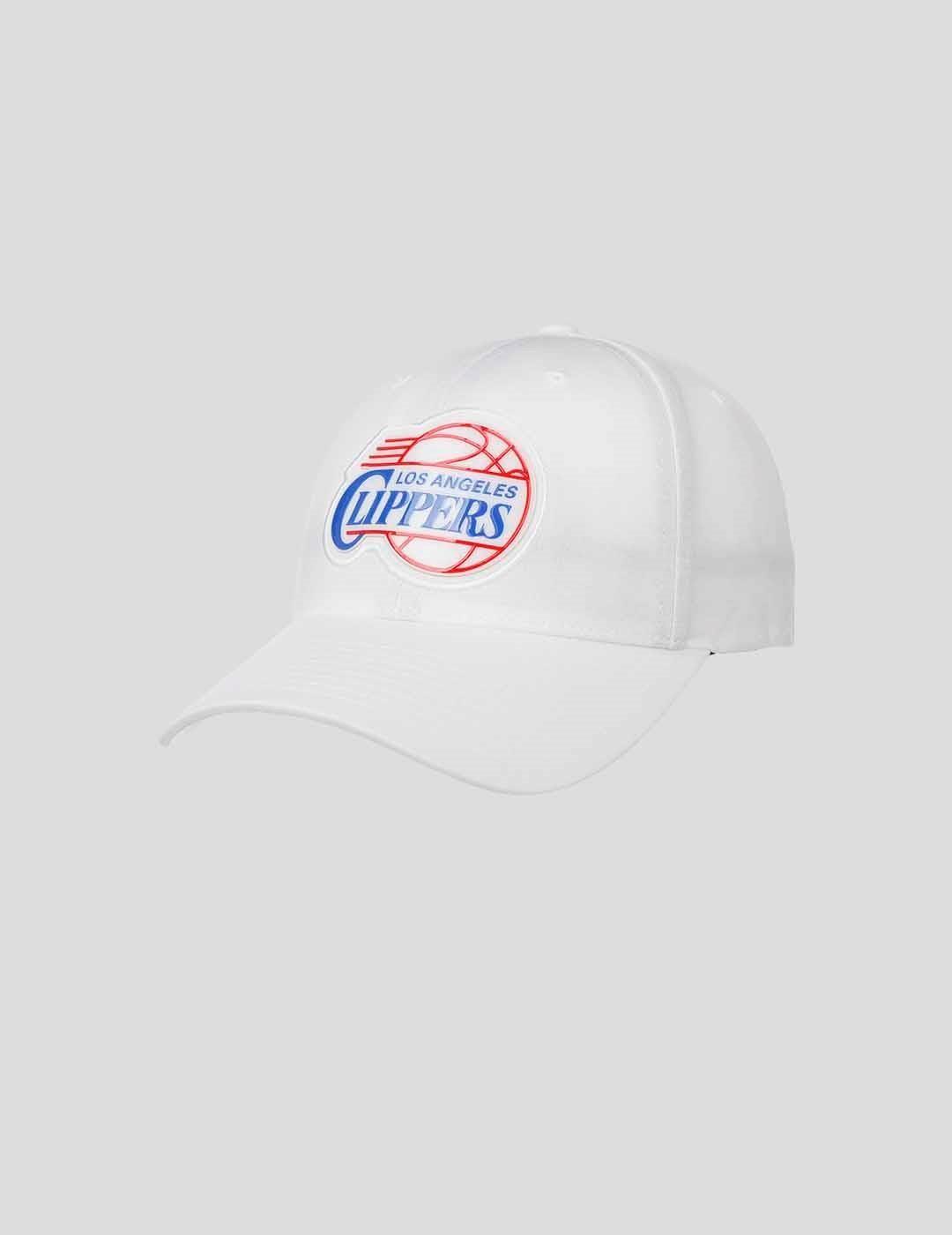 GORRA MITCHELL & NESS NBA PRIME LOW PRO LA CLIPPERS WHITE