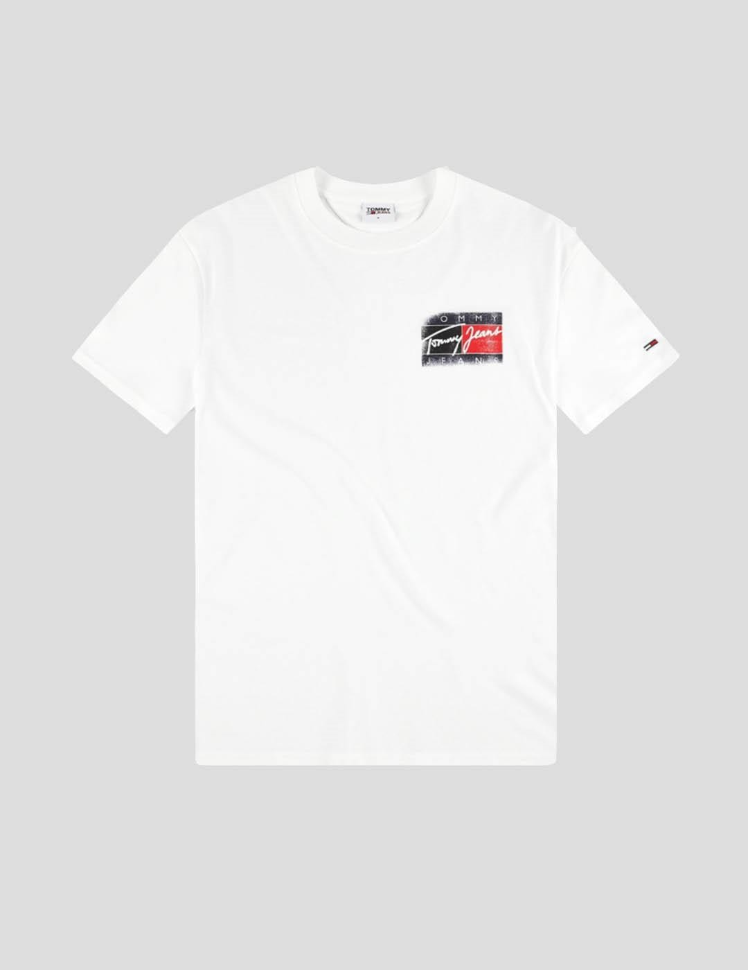 CAMISETA TOMMY JEANS FADED FLAG TEE WHITE