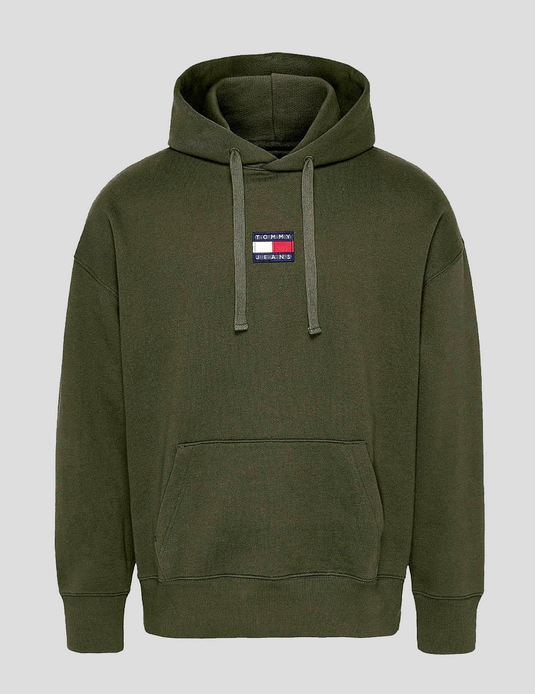 SUDADERA TOMMY JEANS TOMMY BADGE HOODIE GREEN