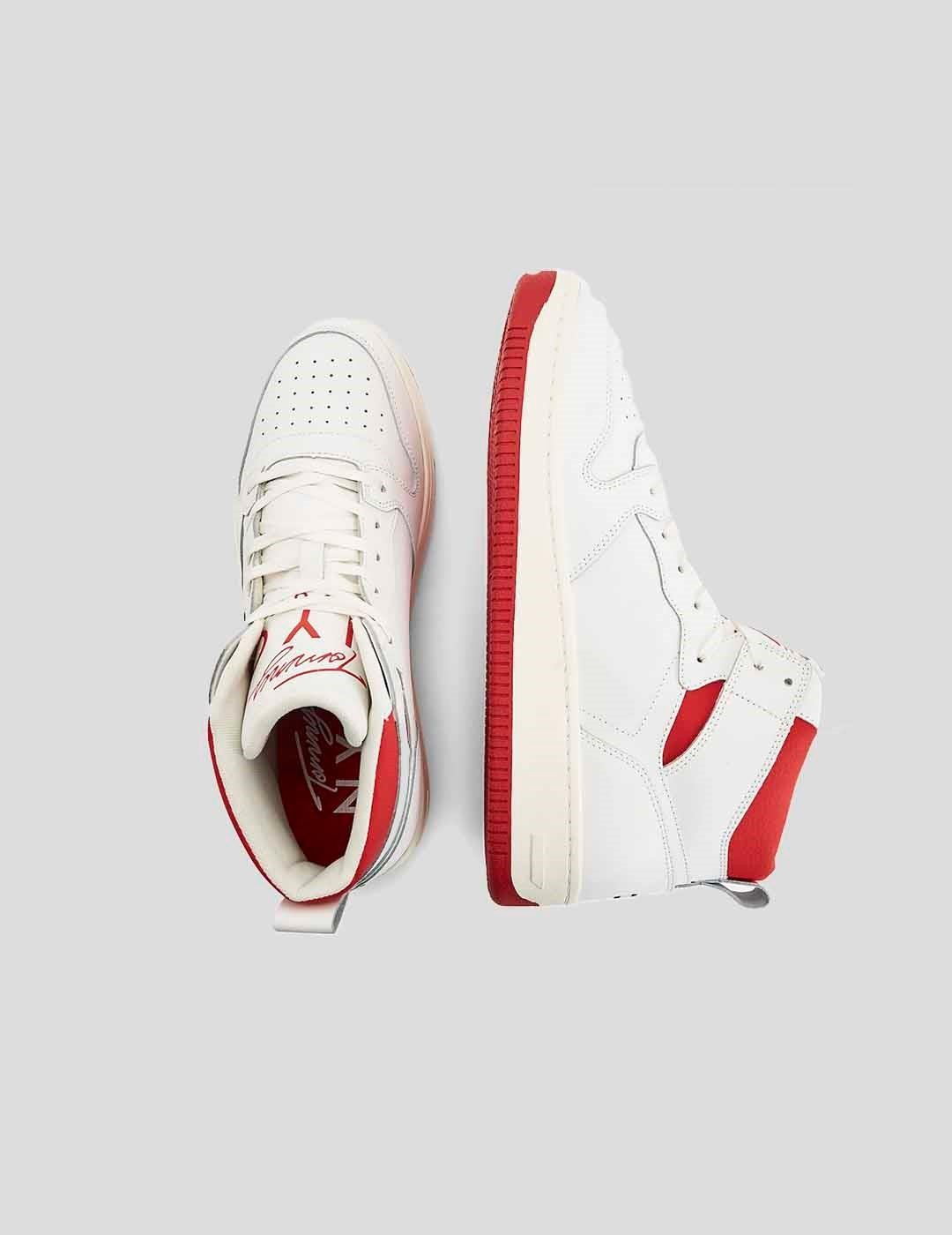 ZAPATILLAS TOMMY JEANS HIGH-TOP CUPSOLE LEATHER BASKETBALL ECRU