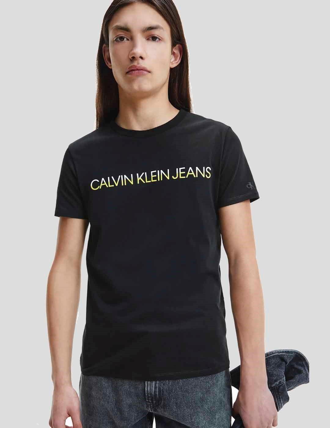 CAMISETA CALVIN KLEIN MIXED INSTIT TECHNIQ TEE BLACK