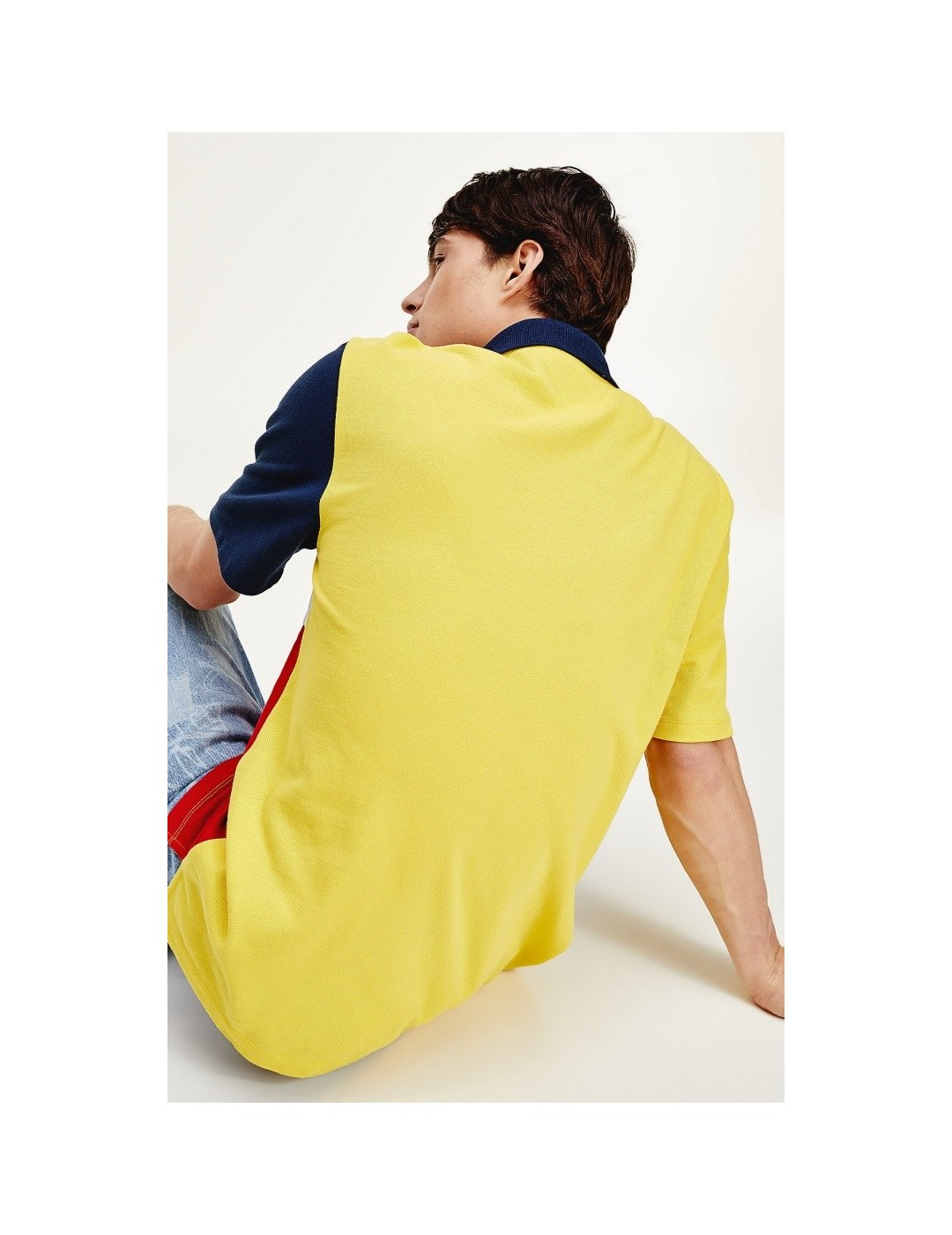 POLO TOMMY JEANS TOMMY COLORBLOCK STAR FRUIT YELLOW