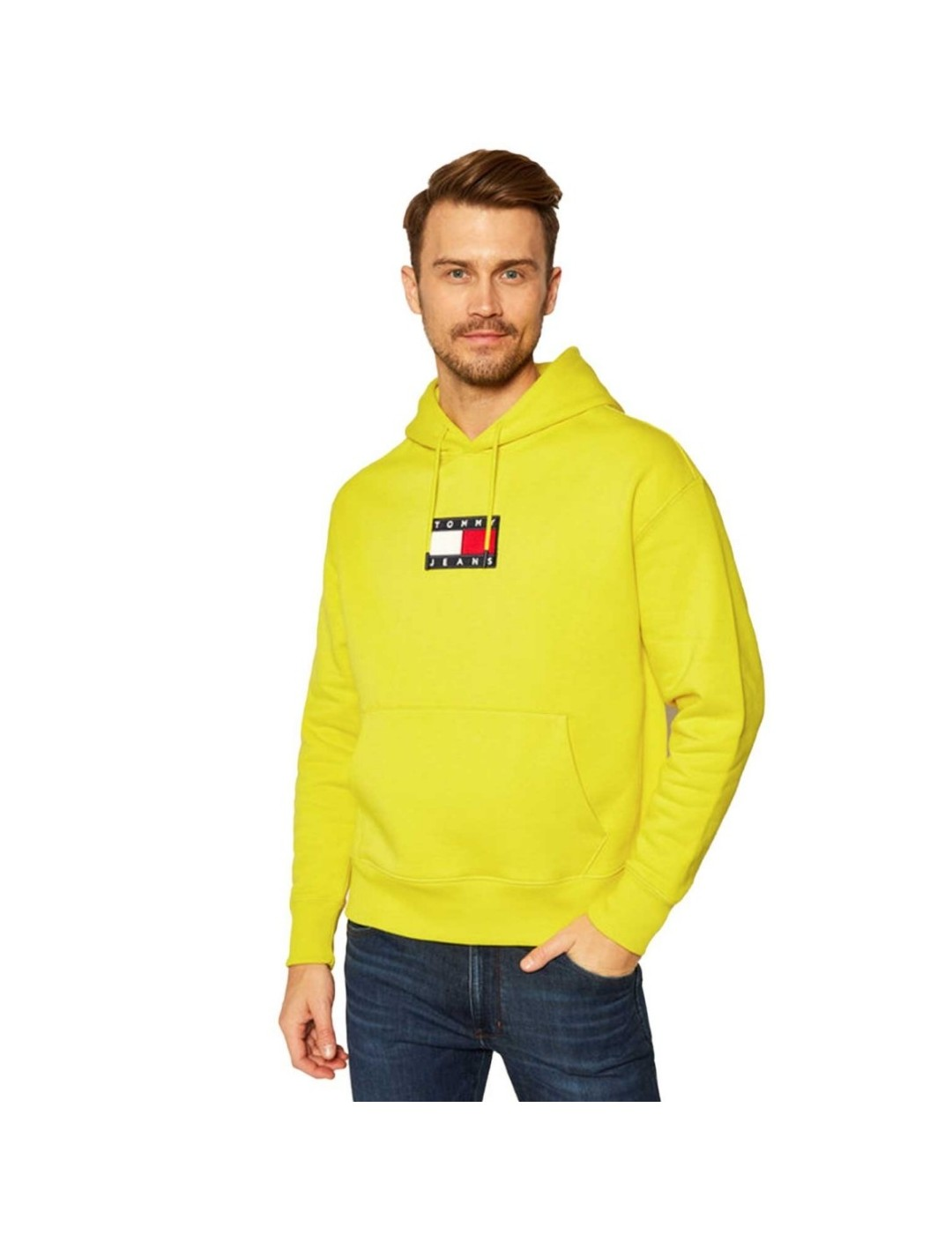 SUDADERA TOMMY JEANS SMALL FLAG HOODIE YELLOW