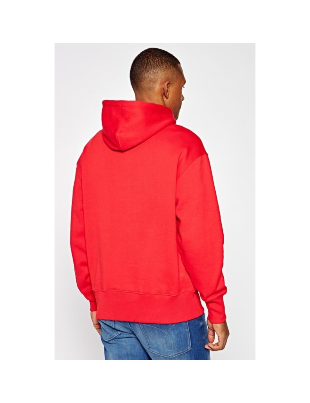 SUDADERA TOMMY JEANS TOMMY BADGE HOODIE RED