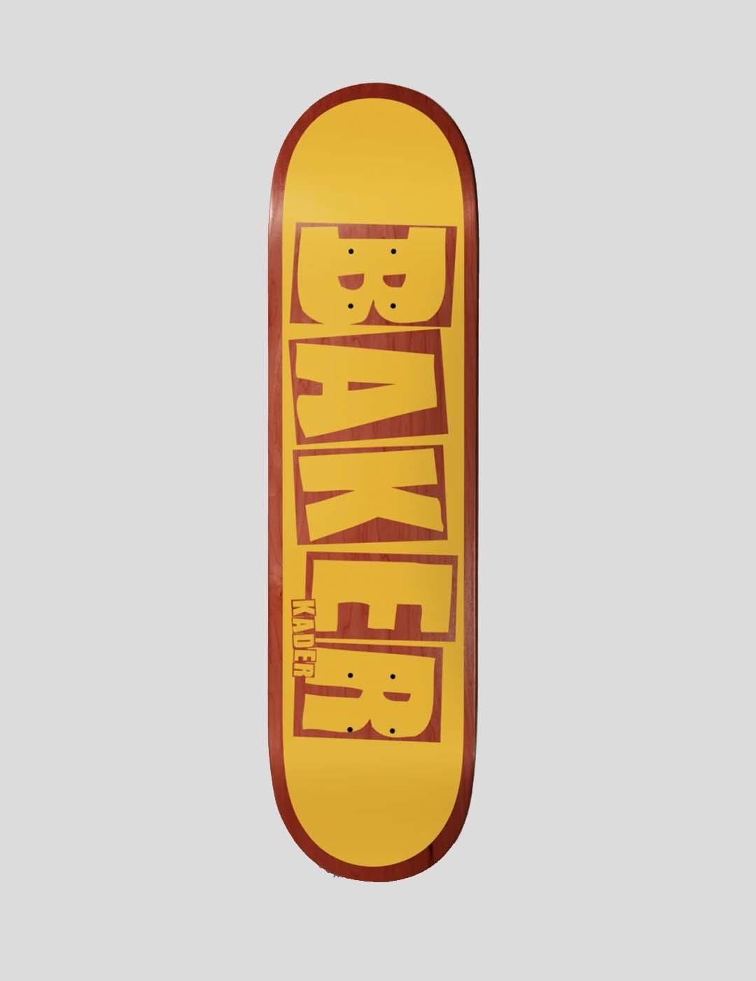 "TABLA BAKER KADER BRAND LOGO YELLOW 7.8"" DECK"