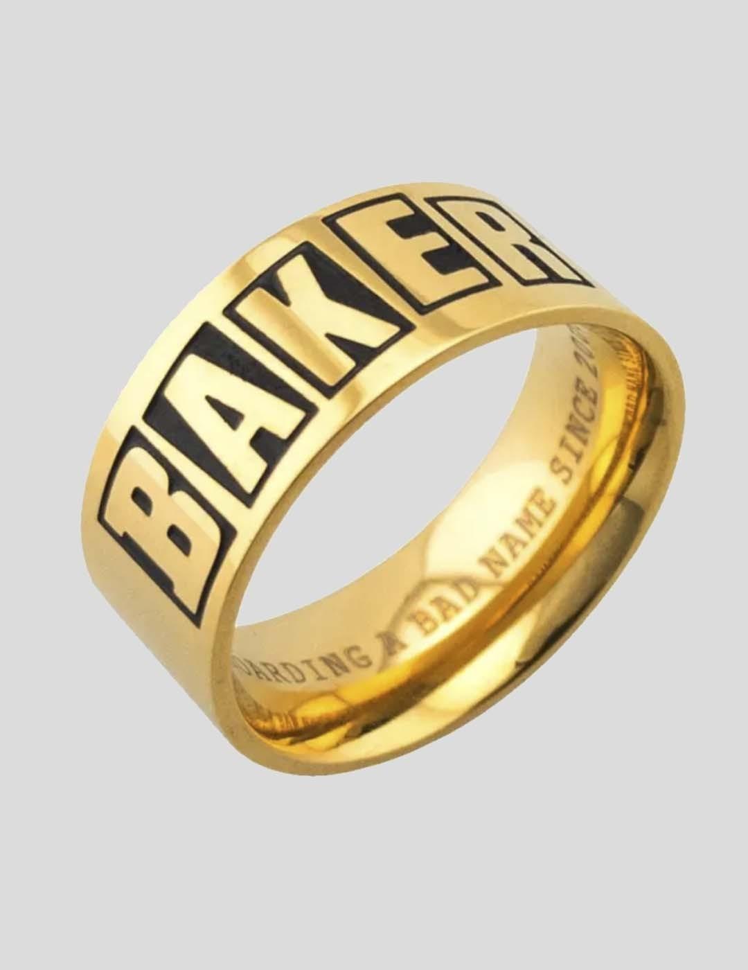ANILLO BAKER BRAND LOGO GOLD RING  GOLD