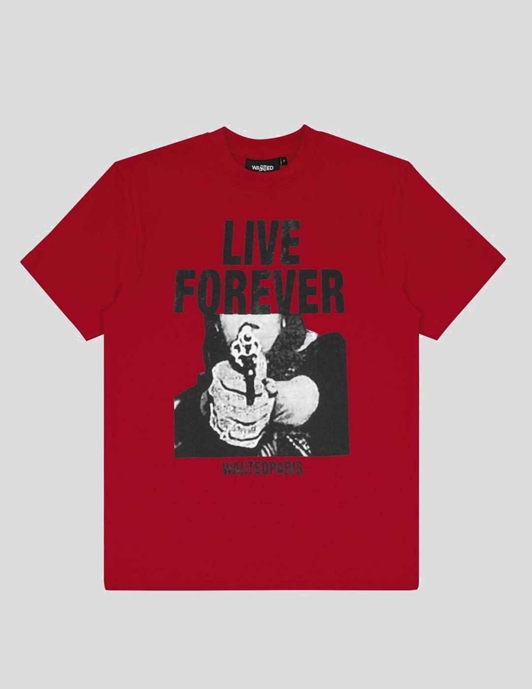 CAMISETA WASTED PARIS FOREVER RED TEE RED