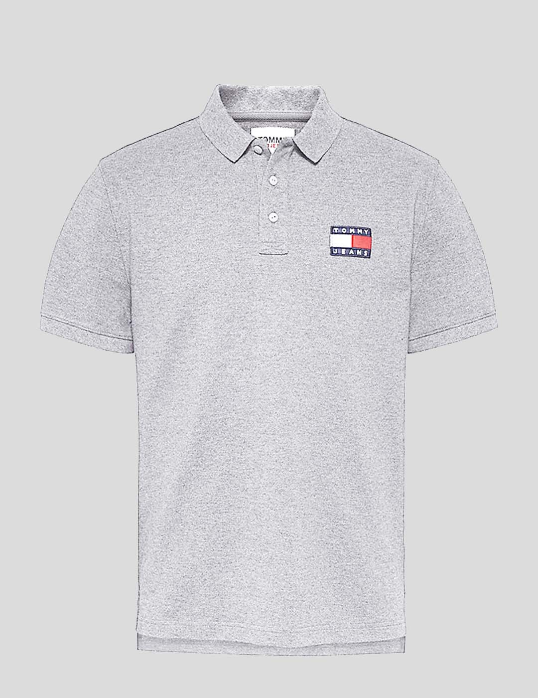 POLO TOMMY JEANS TOMMY BADGE GREY HEATHER