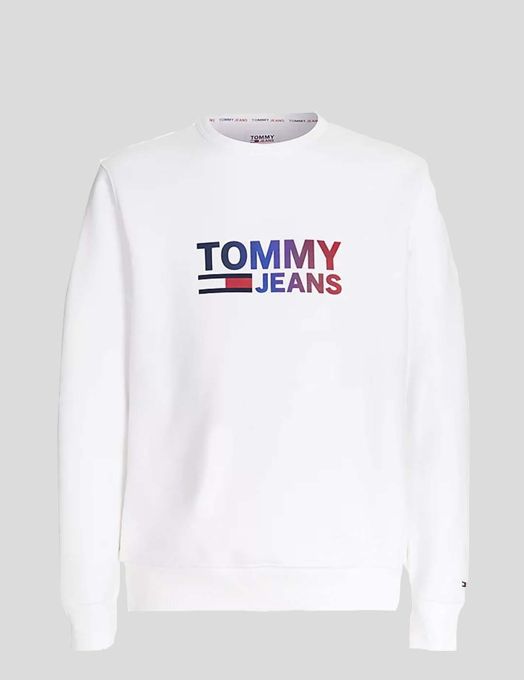 SUDADERA TOMMY JEANS OMBRE CORP LOGO CREW WHITE