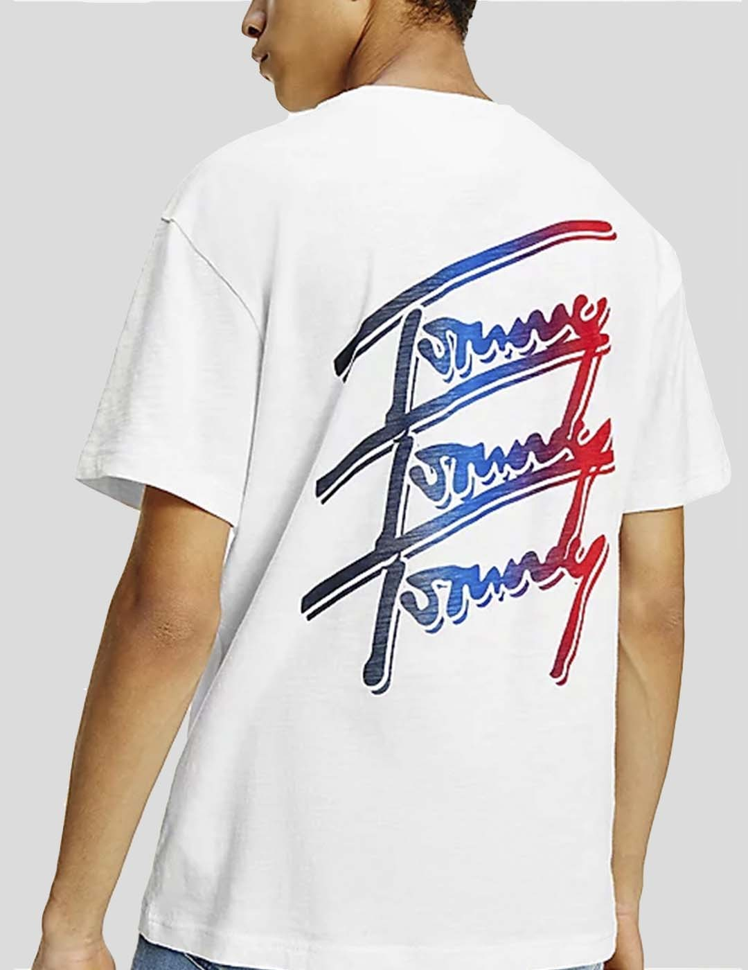 CAMISETA TOMMY JEANS TOMMY REPEAT SCRIPT TEE WHITE