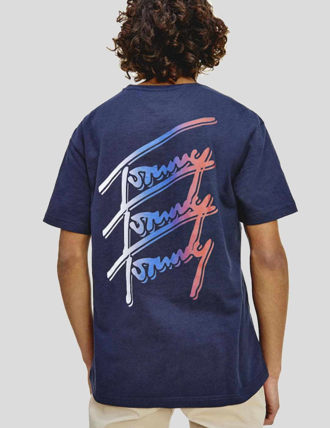CAMISETA TOMMY JEANS TOMMY REPEAT SCRIPT TEE TWINGLITH NAVY