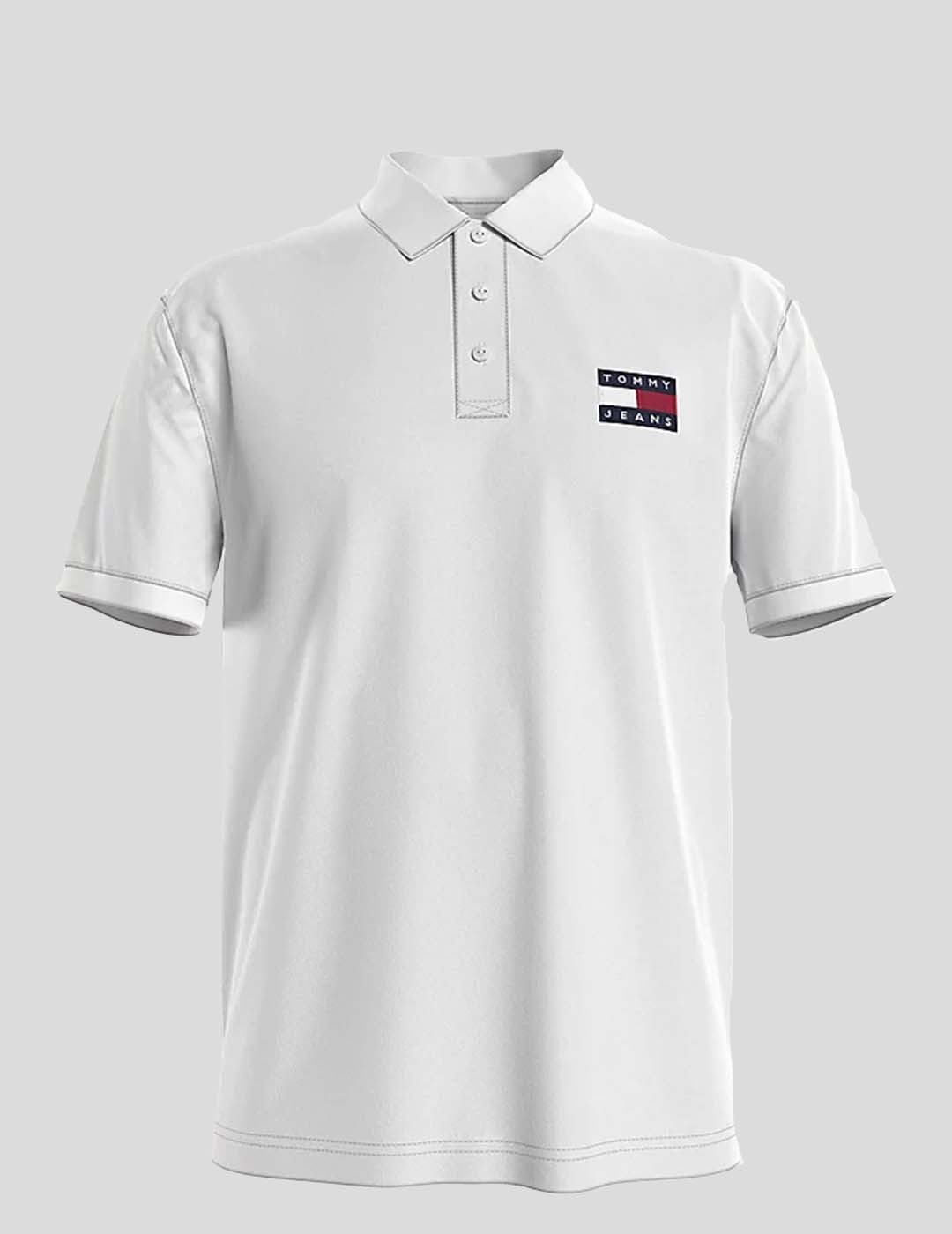 POLO TOMMY JEANS TOMMY BADGE LIGHT WHITE