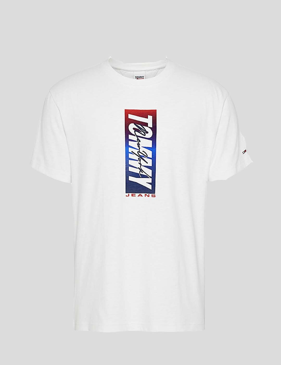 CAMISETA TOMMY JEANS VERTICAL FRONT LOGO BOX TEE WHITE