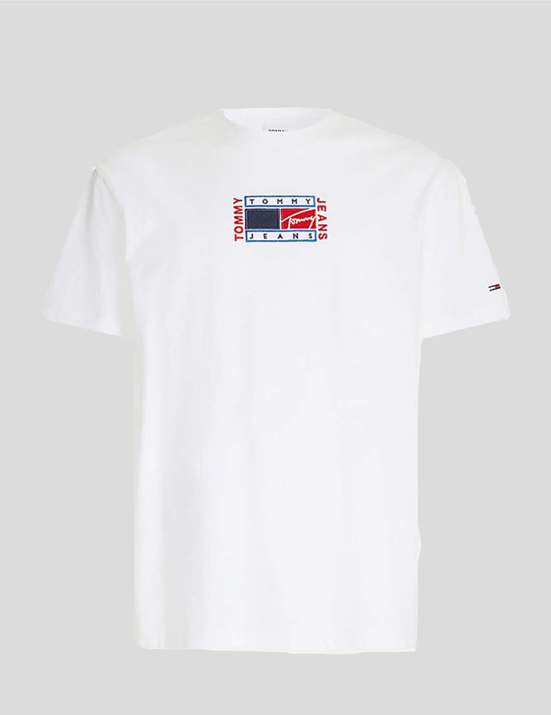 CAMISETA TOMMY JEANS TIMELESS TOMMY FLAG TEE WHITE