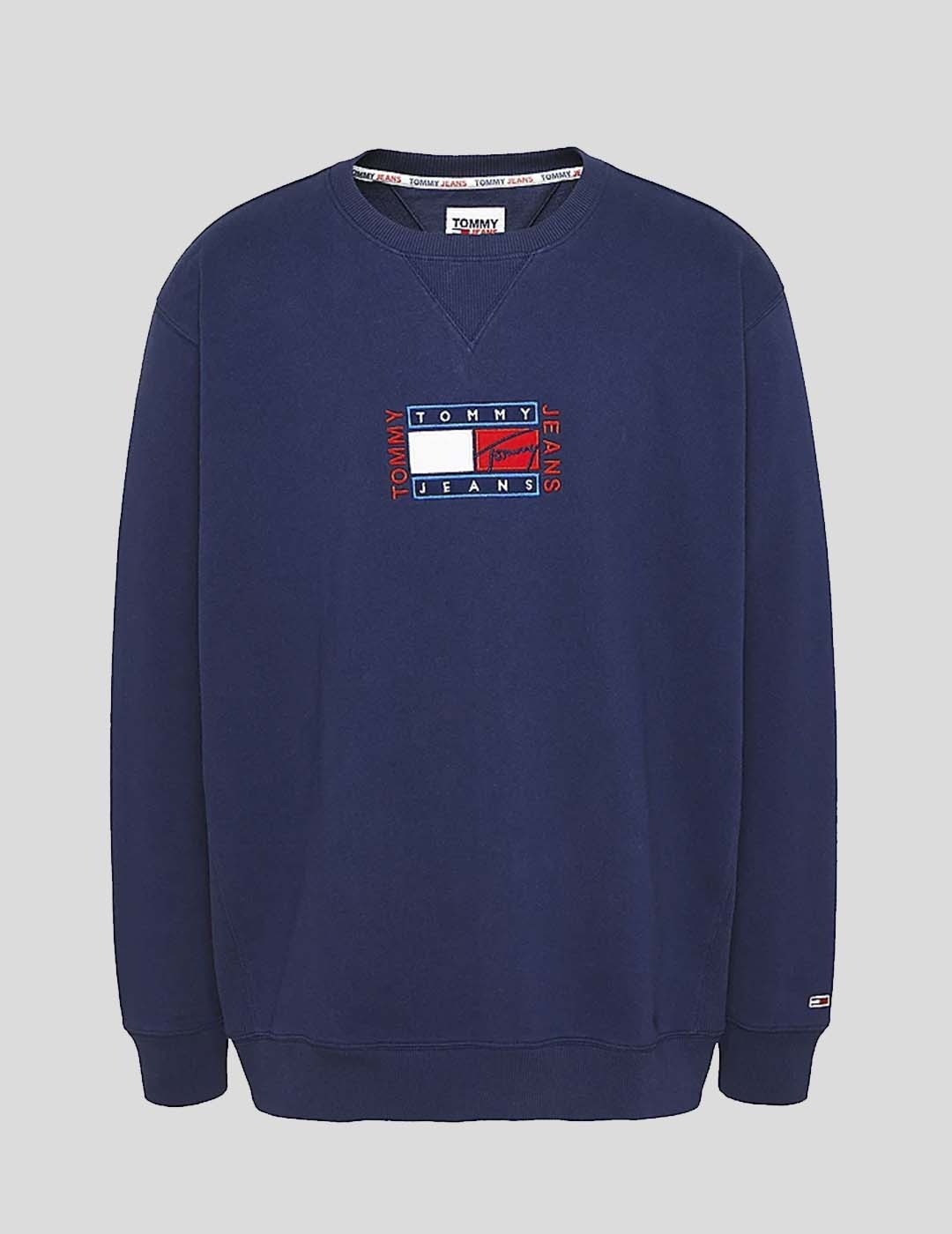 SUDADERA TOMMY JEANS TIMELESS TOMMY CREW TWINLIGHT NAVY