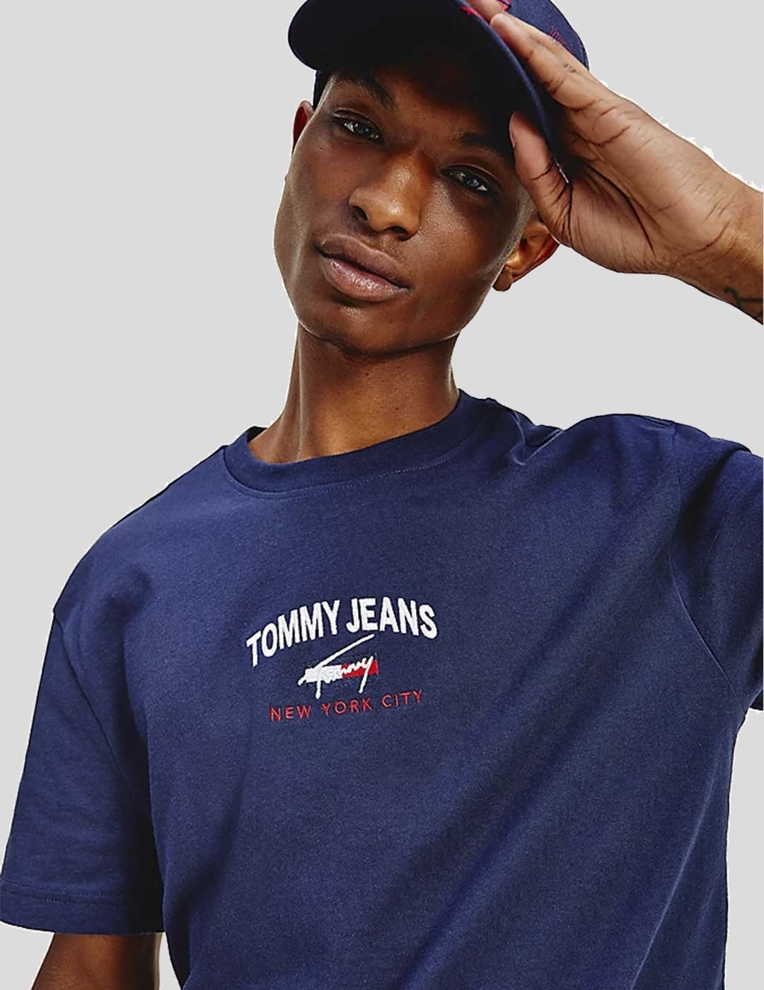 CAMISETA TOMMY JEANS TIMELESS TOMMY SCRIP TEE TWINLIGHT NAVY