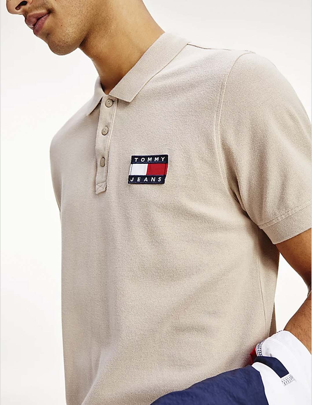 POLO TOMMY JEANS TOMMY BADGE LIGHT SOFT BEIGE