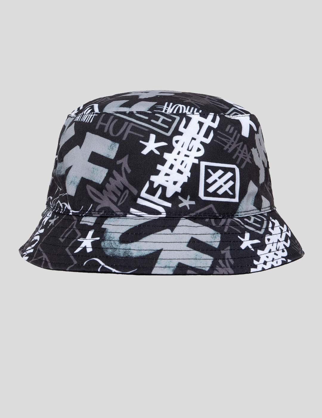 GORRA HUF HAZE BUCKET HAT BLACK