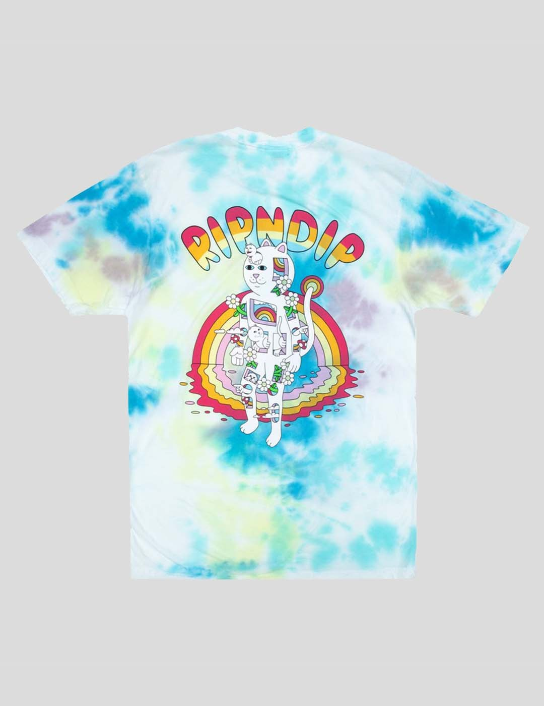 CAMISETA RIPNDIP OUT OF THE BOX TEE BLUE YELLOW TIE DYE