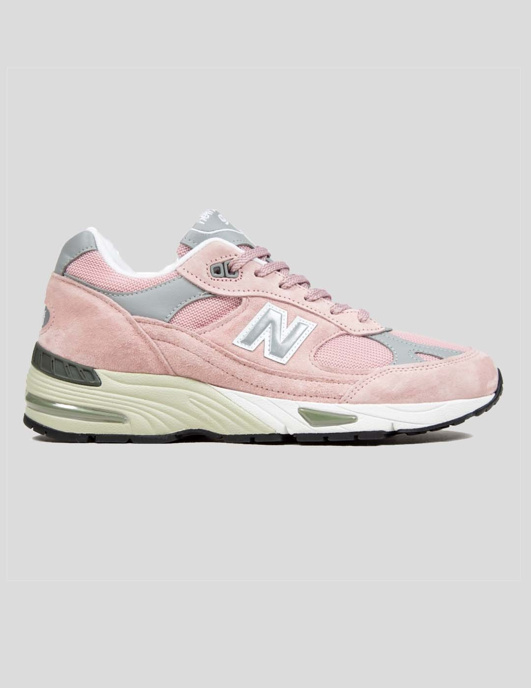 """ZAPATILLAS NEW BALANCE 991 """"MADE IN UK"""" SHY PINK SILVER"""