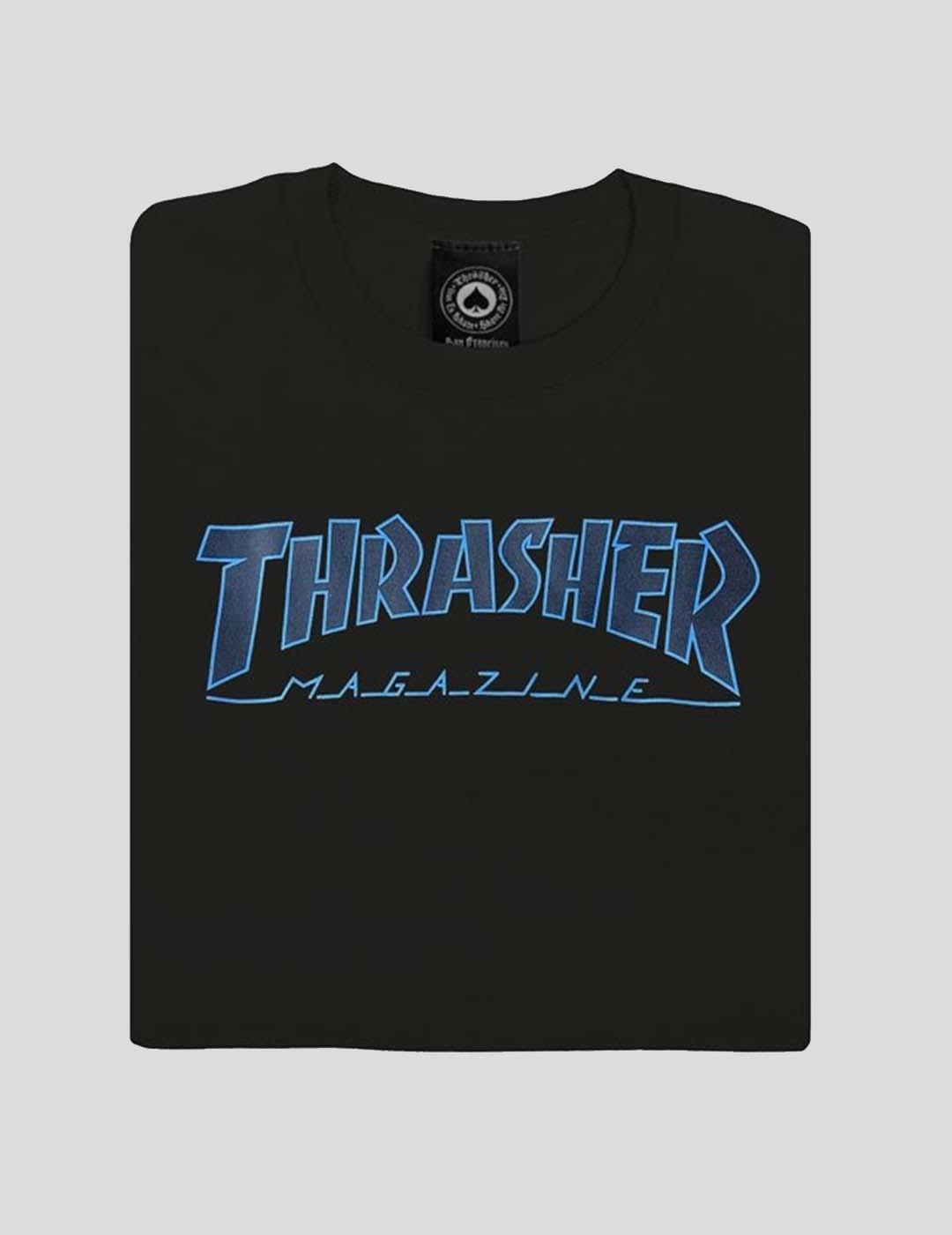 CAMISETA THRASHER OUTLINED TEE black black