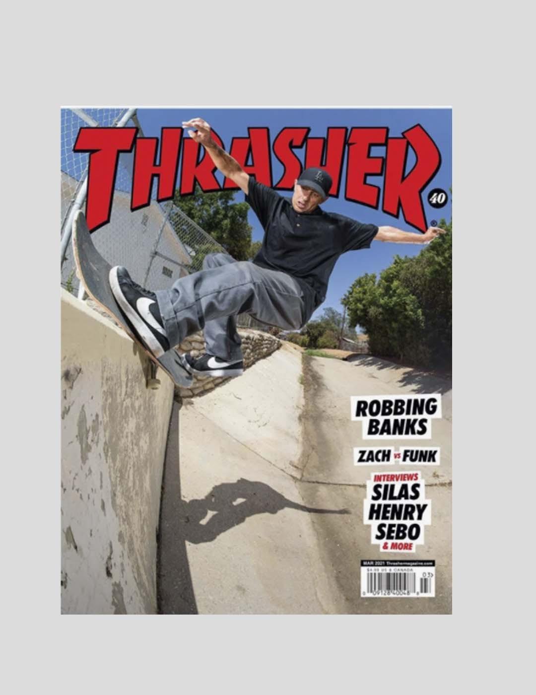 THRASHER REVISTA THRASHER MAGAZINE 488 NEGRO