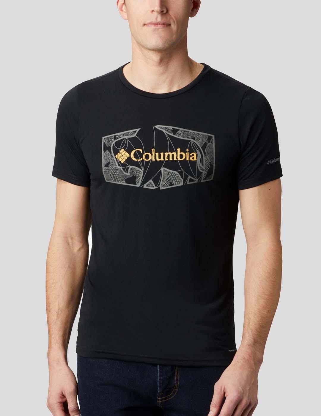 CAMISETA COLUMBIA TERRA VALE II SS TEE BLACK ROAM HEX