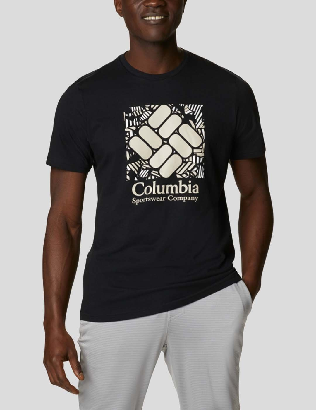 CAMISETA COLUMBIA M RAPID RIDGE GRAPHIC TEE BLACK FRONDTAST