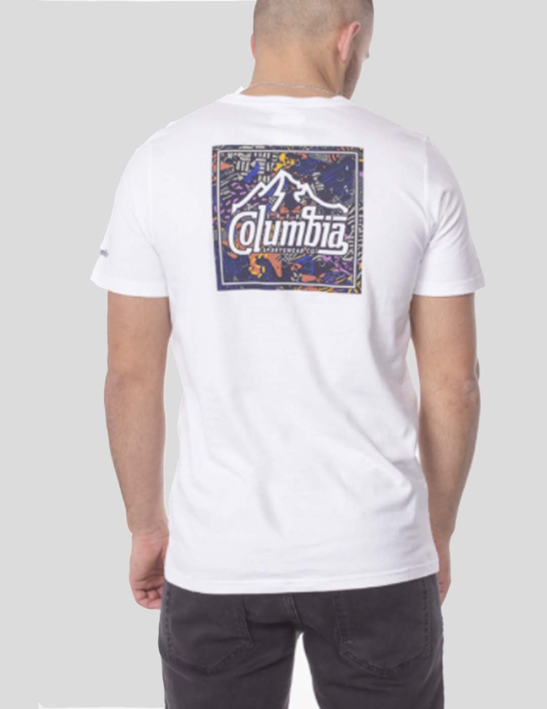 CAMISETA COLUMBIA RAPID RIDGE BACK GRAPHIC TEE WHITE SUMMIT SE