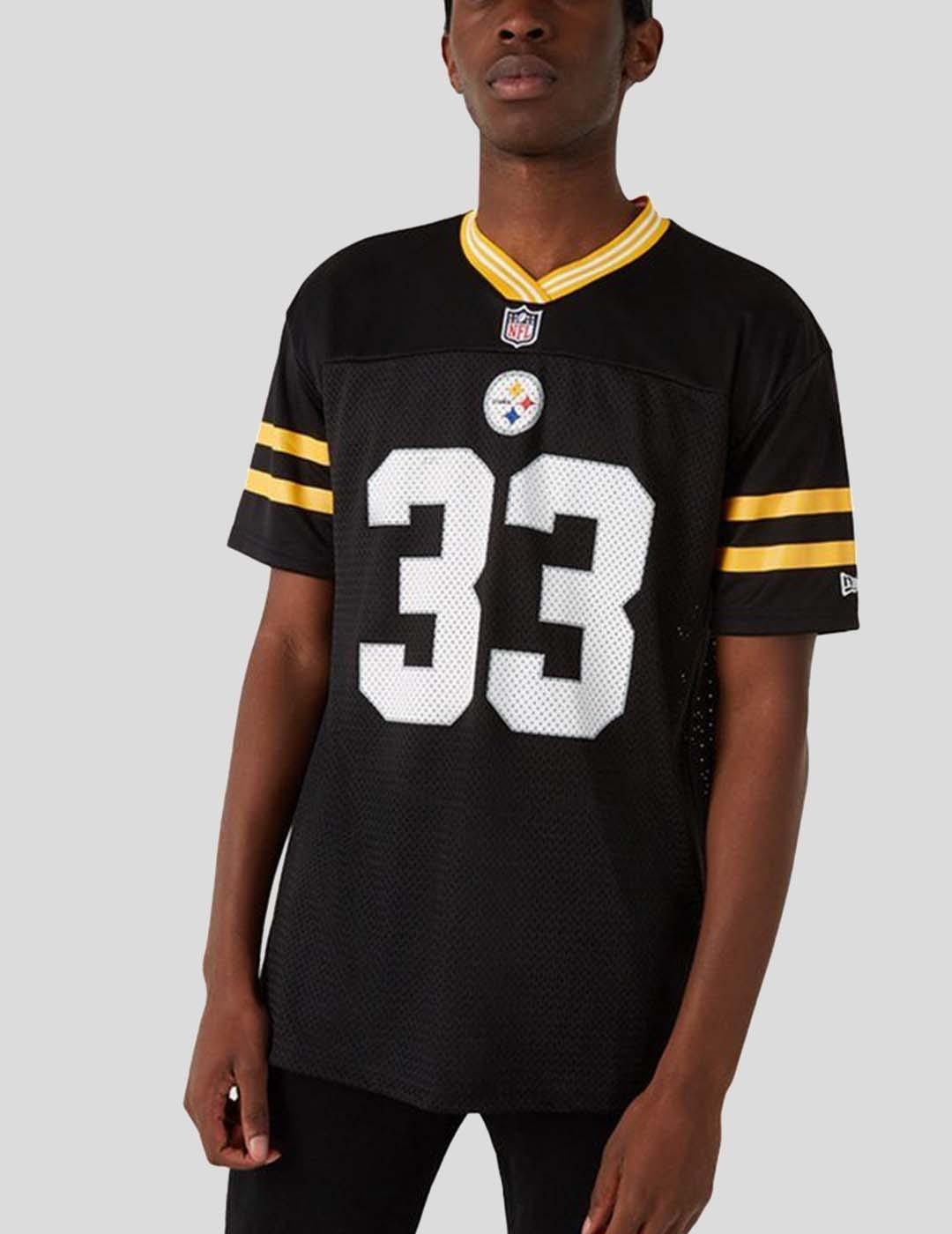 CAMISETA NEW ERA NFL LOGO OVERSIZED PITTSBURGH BLACK YELLOW