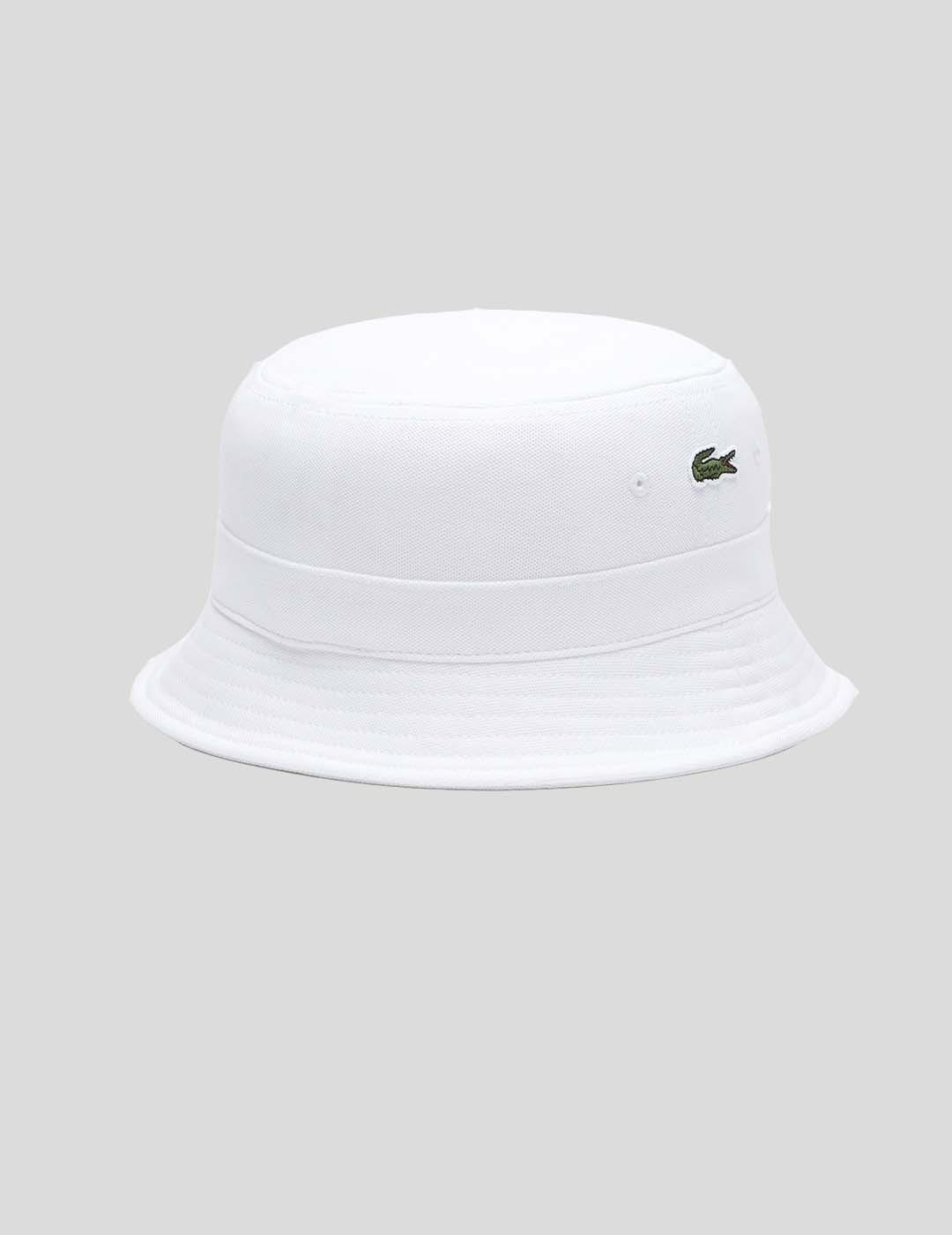 GORRA LACOSTE RK2056 BUCKET HAT BLANC
