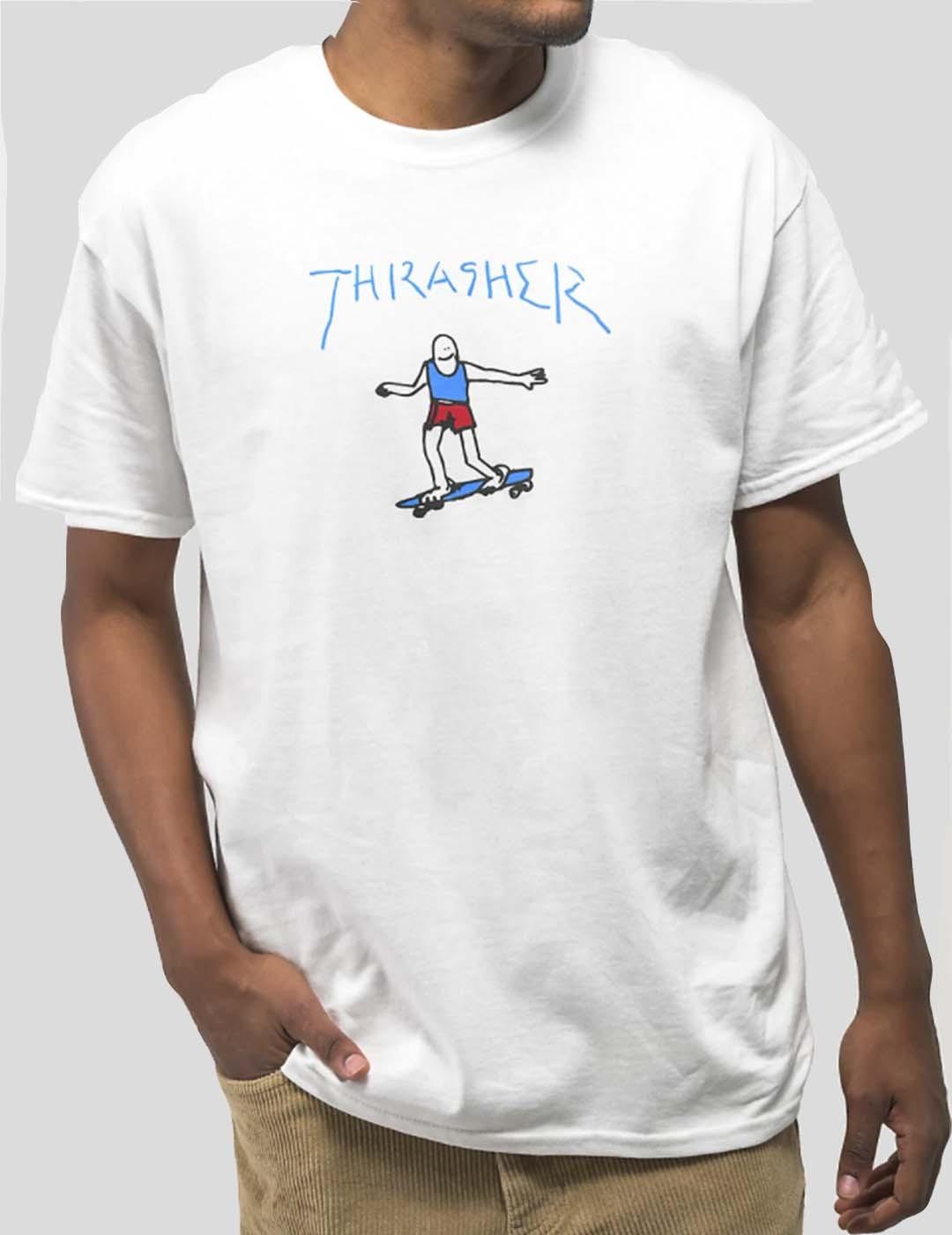 CAMISETA THRASHER GONZ TEE WHITE