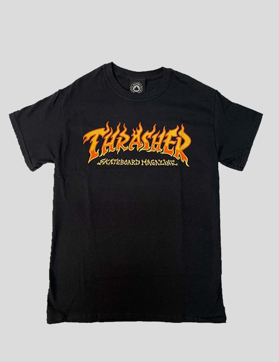 CAMISETA THRASHER FIRE TEE BLACK